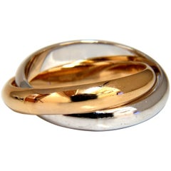 Authentic Tiffany & Co. Two-Rolling Rings 18 Karat