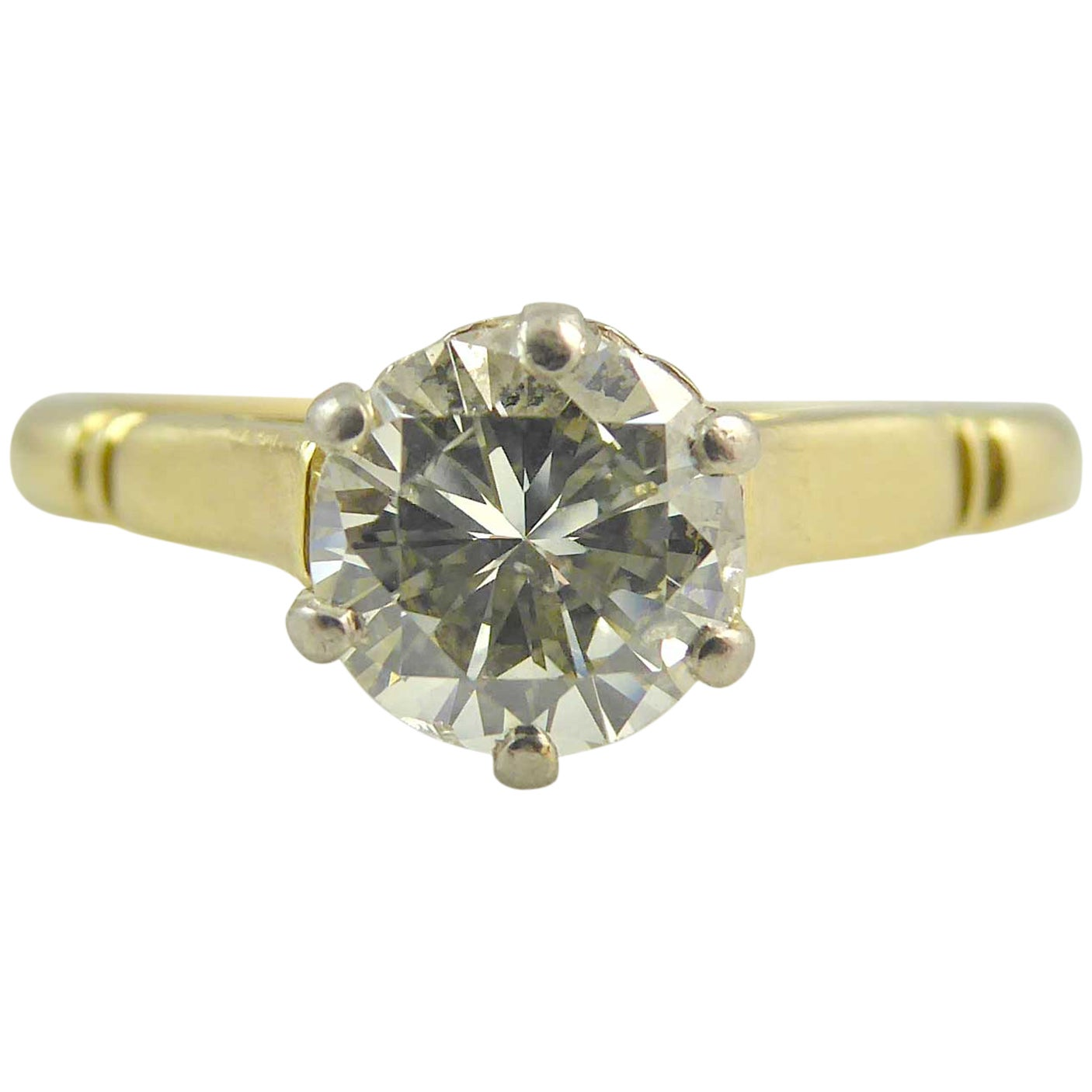 Vintage Solitaire Diamond Ring, 0.82 Carat, circa 1980s