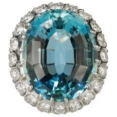 Platinum Fine Aquamarine Ring