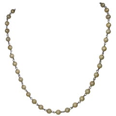 Alberto Juan Mexican Handmade Sterling Silver Natural Pearl Necklace