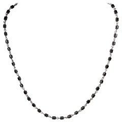 Alberto Juan Mexican Handmade Sterling Silver Hematite Bead Necklace