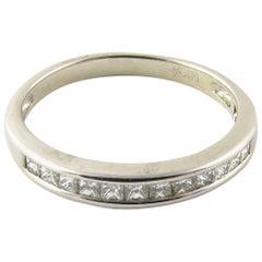 14 Karat White Gold Princess Cut Diamond Wedding Band