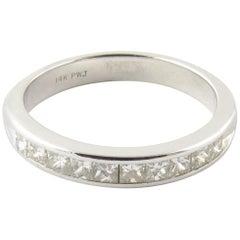 14 Karat White Gold Princess Cut Diamond Wedding