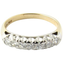 Platinum and 14 Karat White Gold Diamond Wedding Band