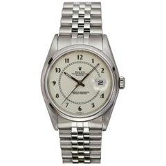 Rolex Stainless Steel Datejust Automatic Wristwatch Ref 16200, circa 1991