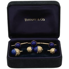 1980s Schlumberger for Tiffany & Co. Lapis Lazuli and Gold Cufflinks with Studs
