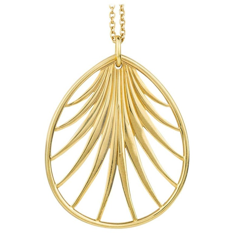 Paloma Picasso Palm Frond Pendant Necklace For Sale