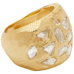 18 Karat Gold Diamond Cocktail Ring 1.56 Carat