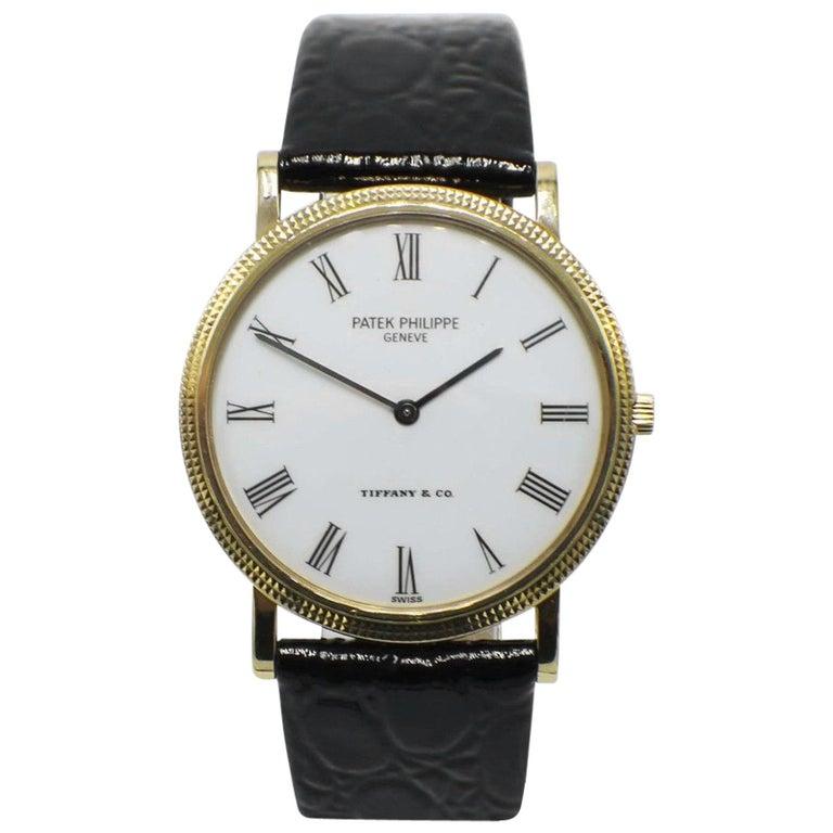 Patek Philippe Tiffany & Co. Calatrava 3520 18 Karat Yellow Gold Watch