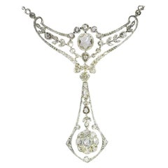Belle Epoque Diamond Necklace Pendant by Wolfers