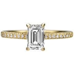1.46 Emerald Cut Diamond Engagement Ring