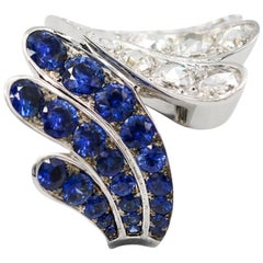 5.31 Carat Blue Sapphire and Diamond Ring