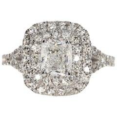 2.00 Carat Cushion Cut Diamond Engagement Ring