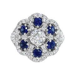 Diamond Lace Sapphire Ring