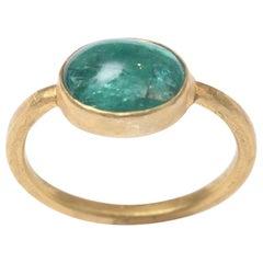 Cabochon Emerald and 22 Karat Gold Ring