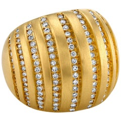 18 Karat Diamond Orbit Dome Ring