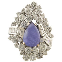 White Diamonds Tanzanite Drop White Gold Ring