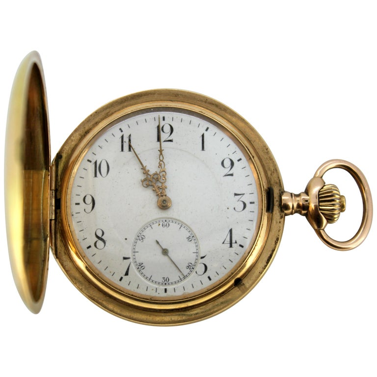 Antique IWC 14 Karat Yellow Gold Pocket Watch