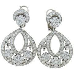 Platinum and Diamond Snowflake Earrings by Van Cleef & Arpels