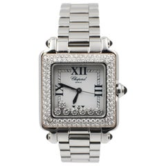Chopard Ladies Happy Sport 27 8325 23 Floating Diamond 18K Gold & Stainless