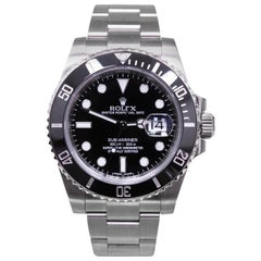 Rolex Submariner Ceramic 116610 Black Stainless Steel Box and Papers Open Card
