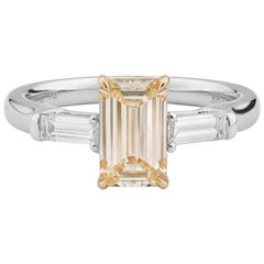 1.4 Carat Yellow Diamond Ring