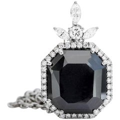 29 Carat Black Diamond Necklace