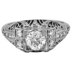 .53 Carat Diamond Platinum Engagement Ring Art Deco by S. Kind & Son