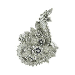 Diamond Platinum and White Gold Ring