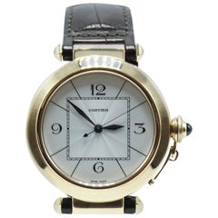 Cartier Pasha 2770 18 Karat Rose Gold Complete Box and Papers