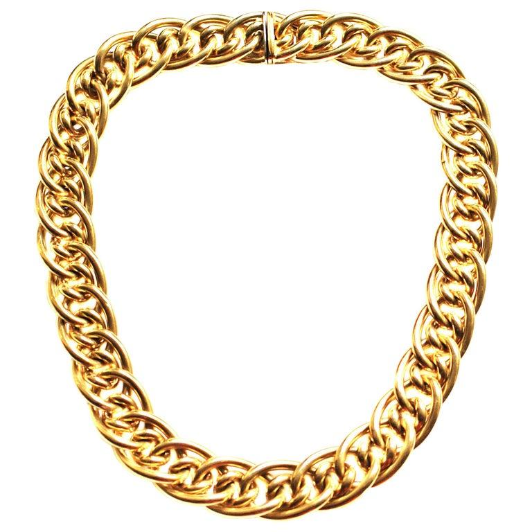 Tiffany & Co. 18 Karat Gold Choker Necklace