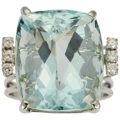 25.35 Carat Aquamarine Cocktail Ring