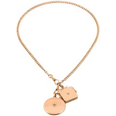 Watch Chain Charm Necklace