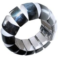 One-of-a Kind Extraordinary Original 1980s Sterling Silver Pomellato Bracelet
