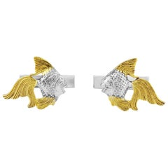 Angel Fish in Sterling Silver with 18 Karat Gold Vermeil