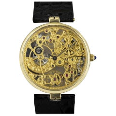 Patek Philippe Very Rare Gold Skeleton Dial 3878J Automatic Watch