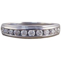 Diamond 18 Carat White Gold Half Eternity Ring