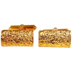 14 Karat Gold Nugget Bar Cufflinks