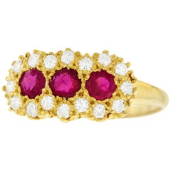 Ruby and Diamond Set Gold Ring