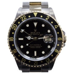 Rolex GMT Master II 16713 Black 18K Yellow Gold & Steel Box & Booklets 2004