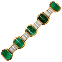 1970s Bulgari, Malachite and Gold Bracelet