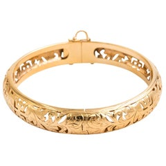 14 Karat Yellow Gold Bracelet Made by Ming's of Honolulu