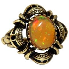 5 Carat Natural Opal Ring 14 Karat