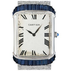 Piaget Retailed by Cartier Sapphire Vintage Ladies Wristwatch