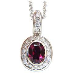 2.70 Carat Natural Tourmaline Diamonds Necklace 14 Karat