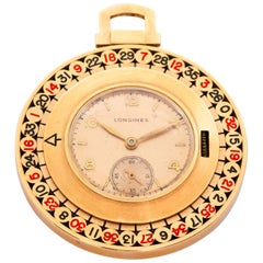 Longines Yellow Gold Roulette Manual Pocket Watch