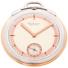 Jules Jurgensen Platinum Rose gold Art Deco Manual Pocket Watch