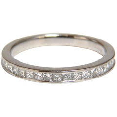 Authentic Asprey .65 Carat Natural Princess Cut Diamonds Band