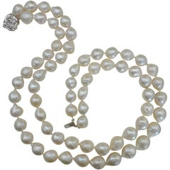 Michael Kneebone Double Strand White Kasumi Pearl Necklace