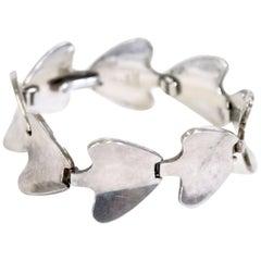 Scandinavian Silver Bracelet by Bent Knudsen, 1960s